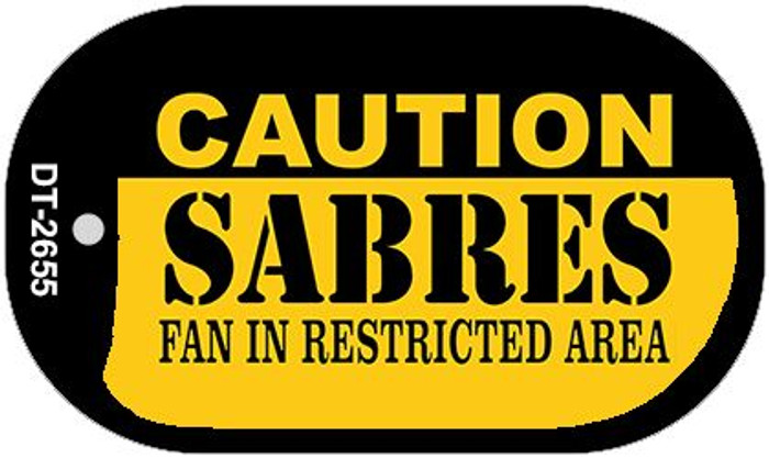 Caution Sabres Fan Area Wholesale Novelty Metal Dog Tag Necklace DT-2655