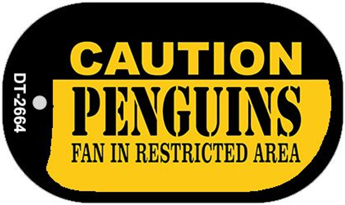 Caution Penguins Fan Area Wholesale Novelty Metal Dog Tag Necklace DT-2664