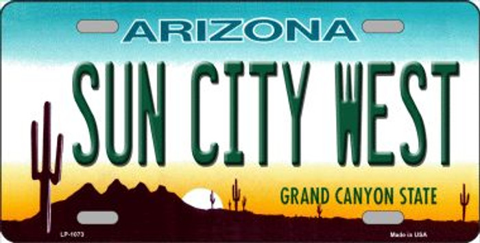 Sun City West Arizona Novelty Wholesale Metal License Plate