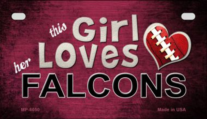 This Girl Loves Her Falcons Wholesale Novelty Metal Motorcycle Plate MP-8050
