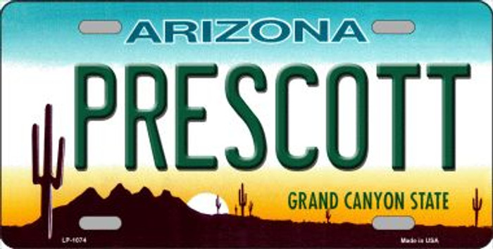 Prescott Arizona Novelty Wholesale Metal License Plate