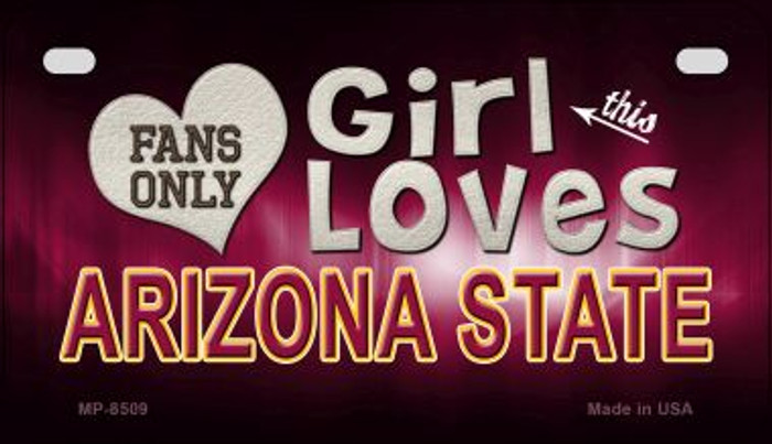 This Girl Loves Her Arizona State Wholesale Novelty Metal Motorcycle Plate MP-8509