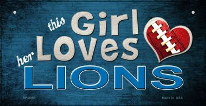 This Girl Loves Her Lions Wholesale Novelty Metal Bicycle Plate BP-8053