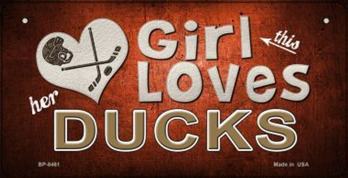 This Girl Loves Her Ducks Wholesale Novelty Metal Bicycle Plate BP-8461