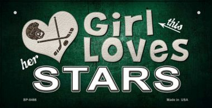 This Girl Loves Her Stars Wholesale Novelty Metal Bicycle Plate BP-8466