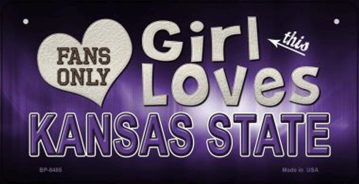 This Girl Loves Her Kansas State Wholesale Novelty Metal Bicycle Plate BP-8485