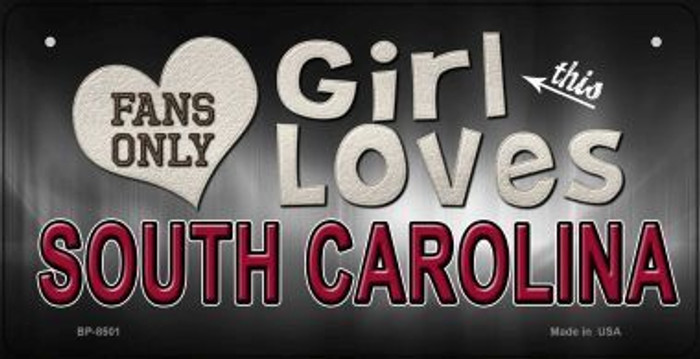 This Girl Loves Her South Carolina Wholesale Novelty Metal Bicycle Plate BP-8501