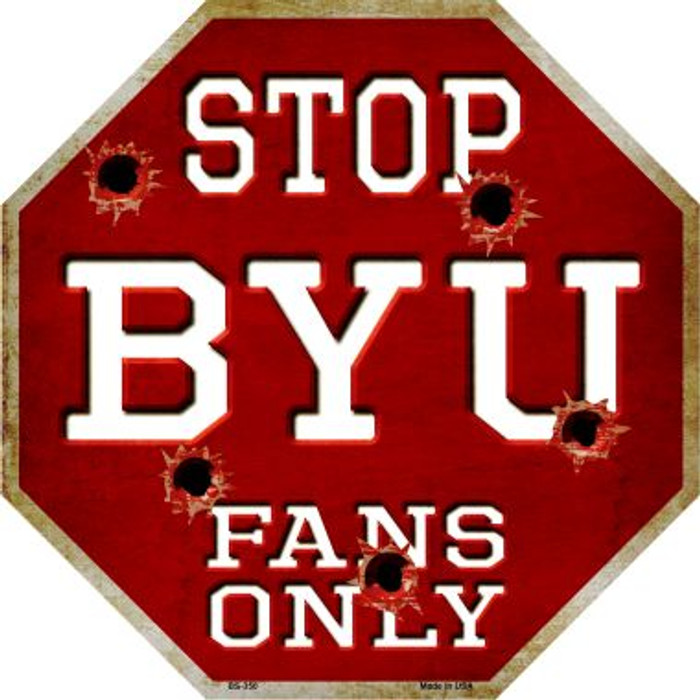 BYU Fans Only Wholesale Metal Novelty Octagon Stop Sign BS-350
