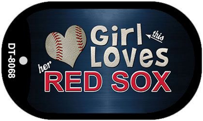 This Girl Loves Her Red Sox Wholesale Novelty Metal Dog Tag Necklace DT-8068