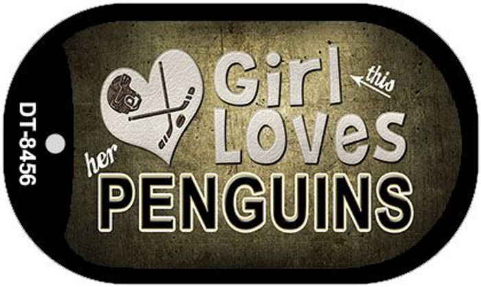 This Girl Loves Her Penguins Wholesale Novelty Metal Dog Tag Necklace DT-8456