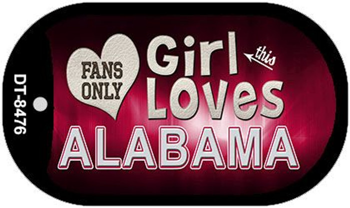 This Girl Loves Her Alabama Wholesale Novelty Metal Dog Tag Necklace DT-8476