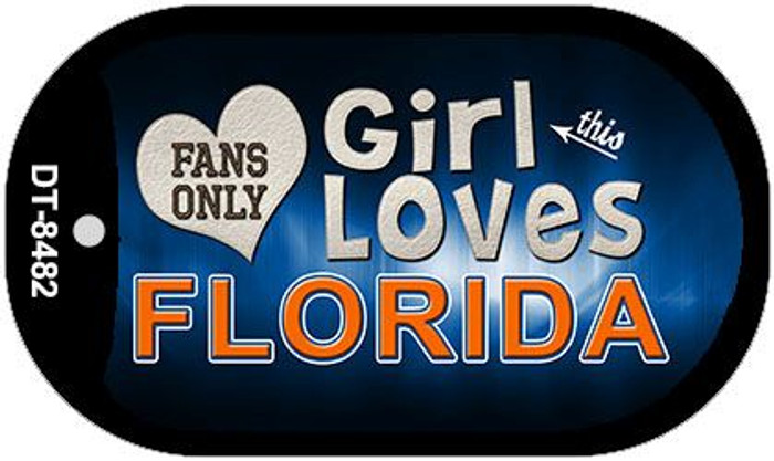 This Girl Loves Her Florida Wholesale Novelty Metal Dog Tag Necklace DT-8482