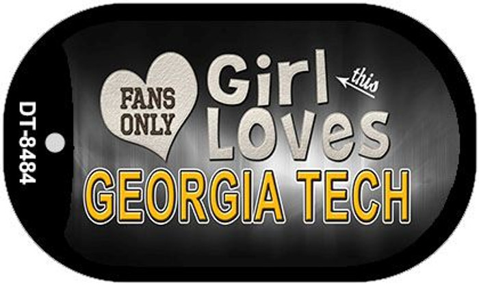This Girl Loves Her Georgia Tech Wholesale Novelty Metal Dog Tag Necklace DT-8484