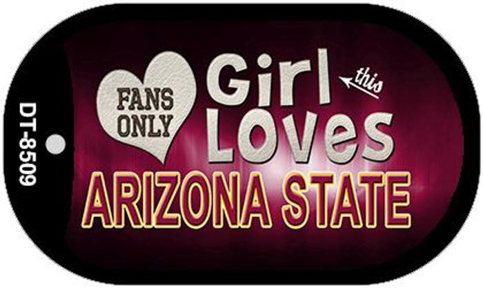 This Girl Loves Her Arizona State Wholesale Novelty Metal Dog Tag Necklace DT-8509