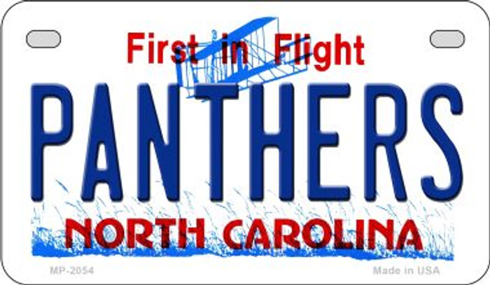Panthers North Carolina Wholesale Novelty Metal Motorcycle Plate MP-2054
