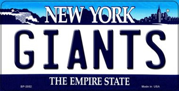 Giants New York Wholesale Novelty Metal Bicycle Plate BP-2052