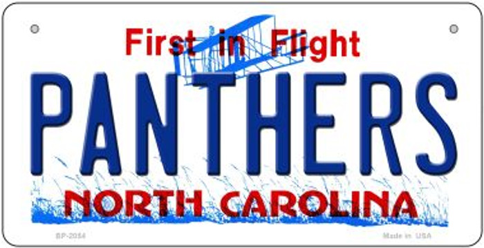 Panthers North Carolina Wholesale Novelty Metal Bicycle Plate BP-2054