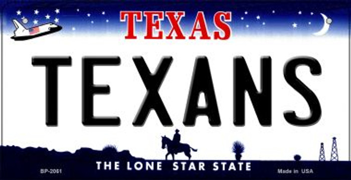 Texans Texas Wholesale Novelty Metal Bicycle Plate BP-2061
