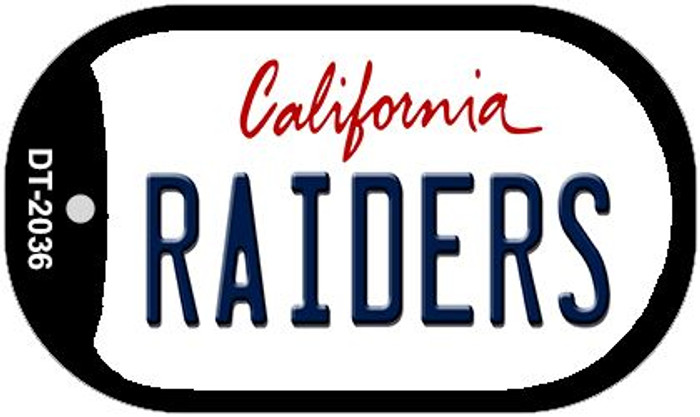 Raiders California Wholesale Novelty Metal Dog Tag Necklace DT-2036