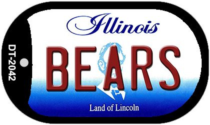 Bears Illinois Wholesale Novelty Metal Dog Tag Necklace DT-2042