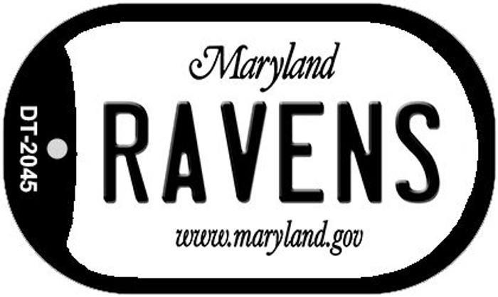 Ravens Maryland Wholesale Novelty Metal Dog Tag Necklace DT-2045