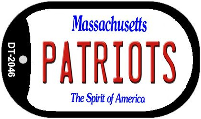 Patriots Massachusetts Wholesale Novelty Metal Dog Tag Necklace DT-2046