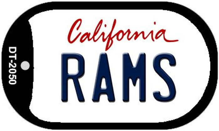 Rams California Wholesale Novelty Metal Dog Tag Necklace DT-2050