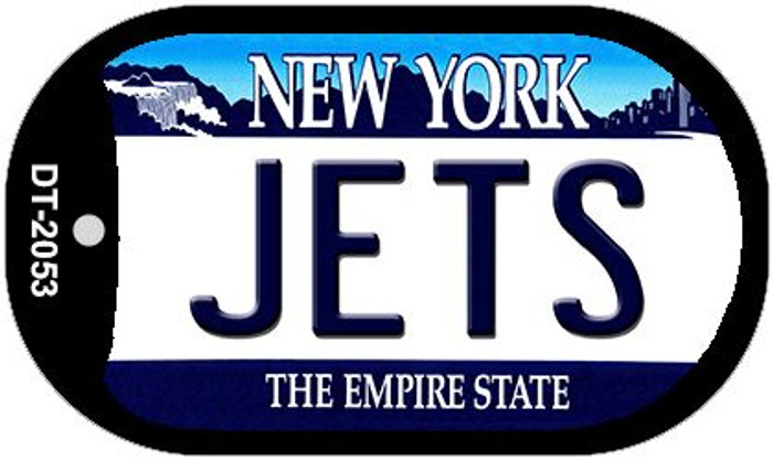 Jets New York Wholesale Novelty Metal Dog Tag Necklace DT-2053