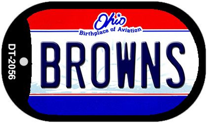 Browns Ohio Wholesale Novelty Metal Dog Tag Necklace DT-2056