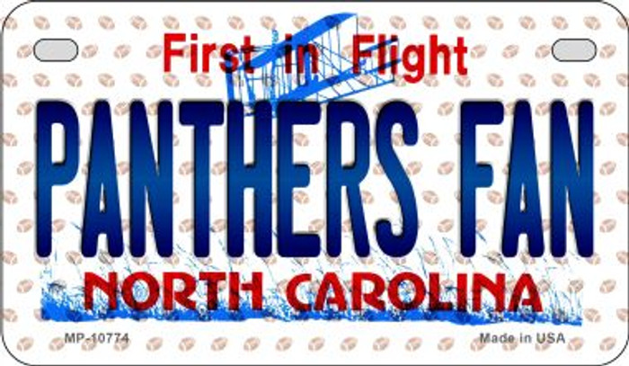 Panthers Fan North Carolina Wholesale Novelty Metal Motorcycle Plate MP-10774
