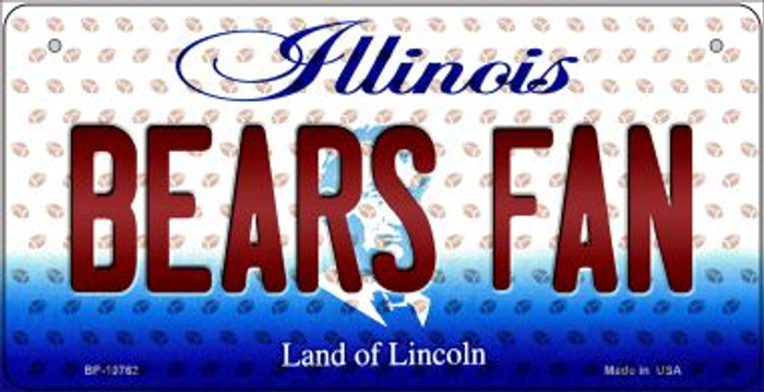 Bears Fan Illinois Wholesale Novelty Metal Bicycle Plate BP-10762