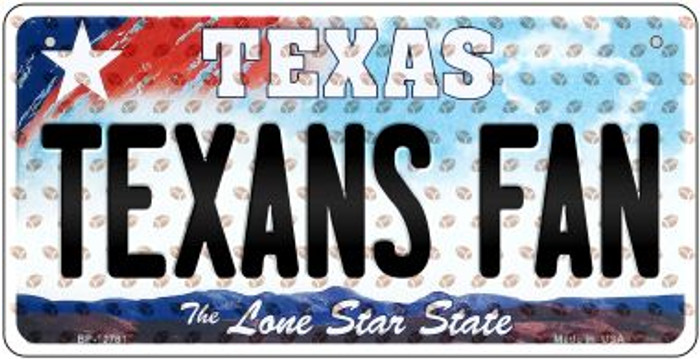 Texans Fan Texas Wholesale Novelty Metal Bicycle Plate BP-10781