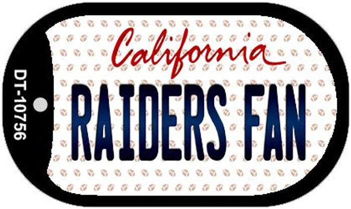 Raiders Fan California Wholesale Novelty Metal Dog Tag Necklace DT-10756