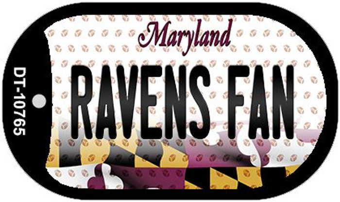 Ravens Fan Maryland Wholesale Novelty Metal Dog Tag Necklace DT-10765