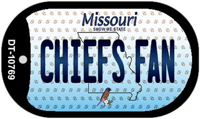 Chiefs Fan Missouri Wholesale Novelty Metal Dog Tag Necklace DT-10769