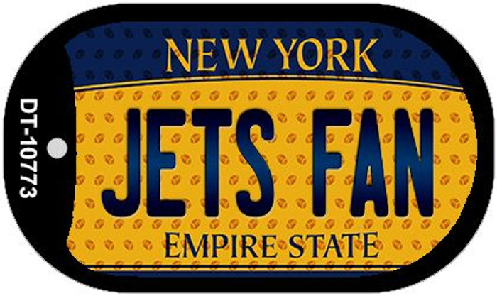 Jets Fan New York Wholesale Novelty Metal Dog Tag Necklace DT-10773