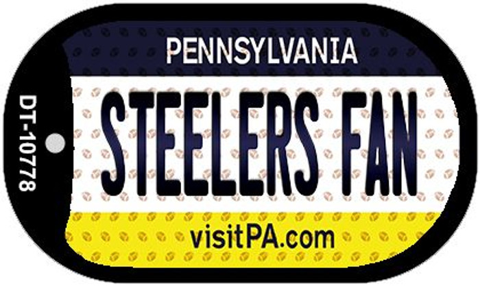 Steelers Fan Pennsylvania Wholesale Novelty Metal Dog Tag Necklace DT-10778