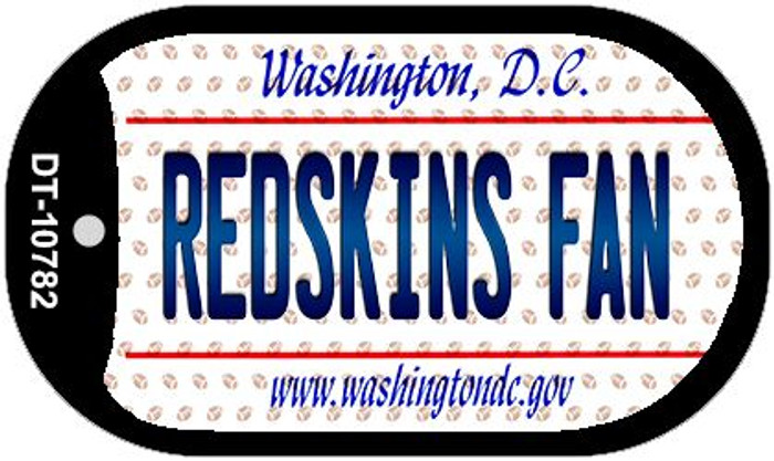 Redskins Fan Washington DC Wholesale Novelty Metal Dog Tag Necklace DT-10782