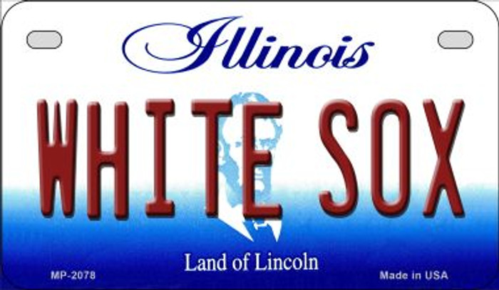 White Sox Illinois Wholesale Novelty Metal Motorcycle Plate MP-2078