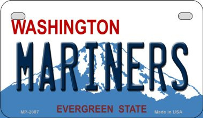 Mariners Washington Wholesale Novelty Metal Motorcycle Plate MP-2087