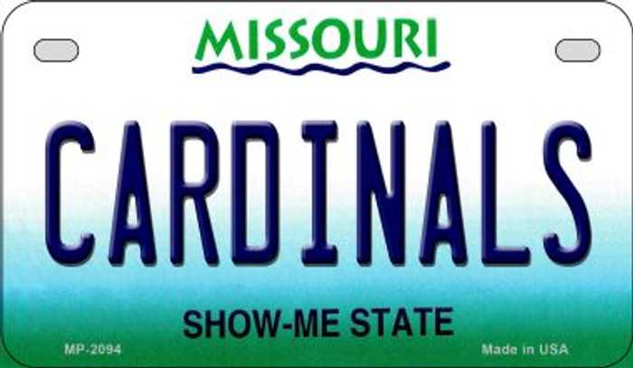 Cardinals Missouri Wholesale Novelty Metal Motorcycle Plate MP-2094
