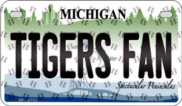 Tigers Fan Michigan Wholesale Novelty Metal Motorcycle Plate MP-10793