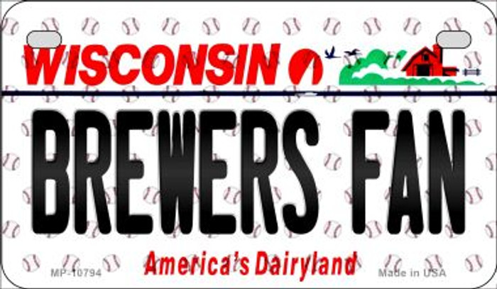 Brewers Fan Wisconsin Wholesale Novelty Metal Motorcycle Plate MP-10794