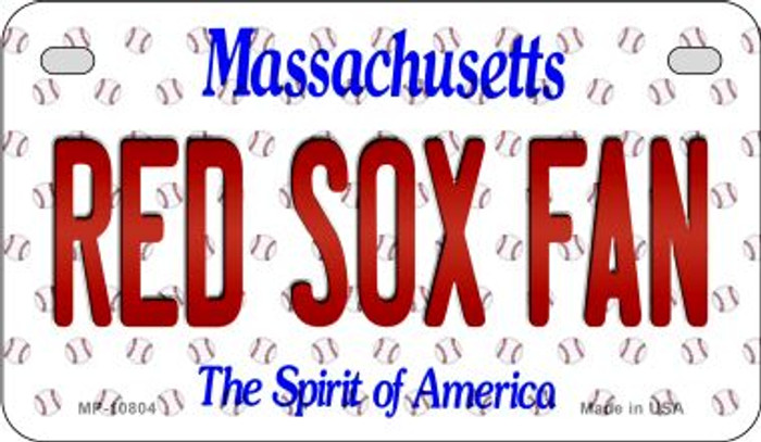 Red Sox Fan Massachusetts Wholesale Novelty Metal Motorcycle Plate MP-10804