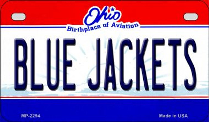 Blue Jackets Ohio Wholesale Novelty Metal Motorcycle Plate MP-2294