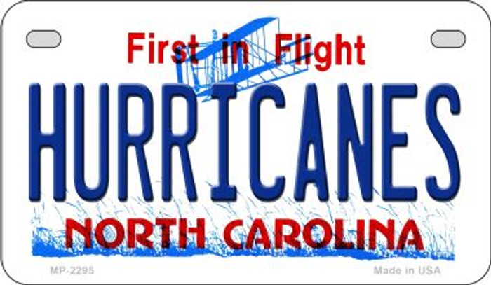 Hurricanes North Carolina Wholesale Novelty Metal Motorcycle Plate MP-2295