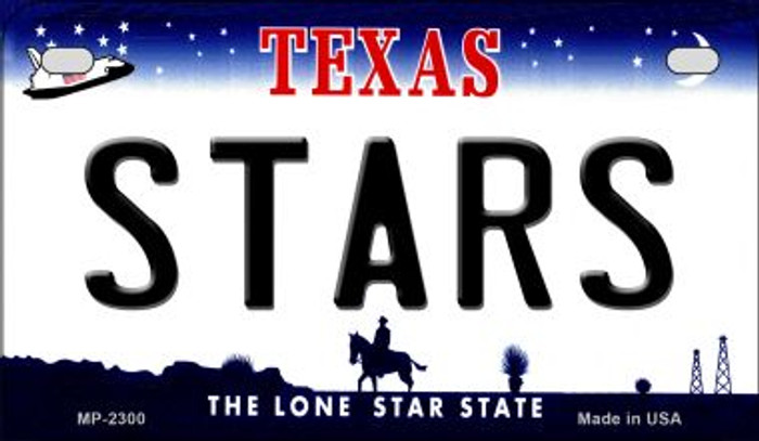Stars Texas Wholesale Novelty Metal Motorcycle Plate MP-2300
