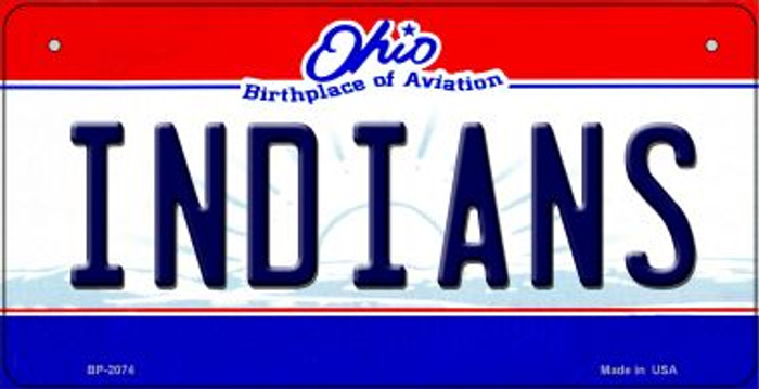 Indians Ohio Wholesale Novelty Metal Bicycle Plate BP-2074