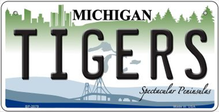 Tigers Michigan Wholesale Novelty Metal Bicycle Plate BP-2079