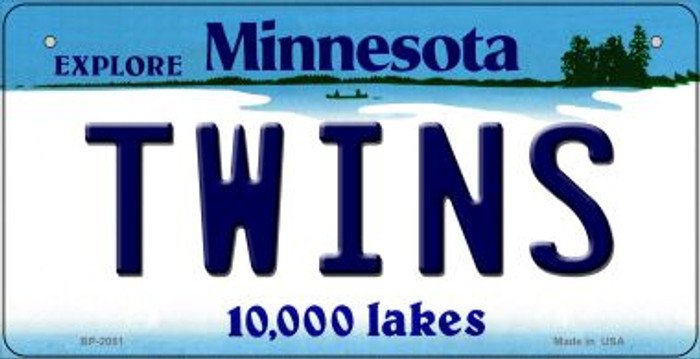 Twins Minnesota Wholesale Novelty Metal Bicycle Plate BP-2081